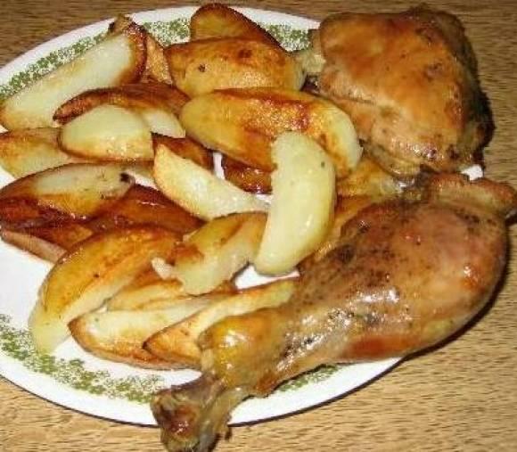 Рецепт курицы с картошкой в мультиварке рецепт