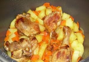 тушеная утка с картошкой рецепт с фото в духовке